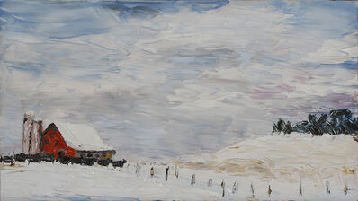 Geoffrey C. Smith, 'Winter Snow & Red Barn', 2017