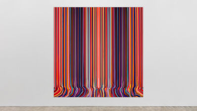 Ian Davenport, 'Mirrored Sequence (Red and Black)', 2020