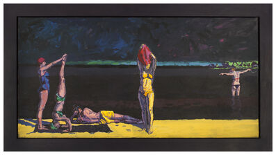 Graham Nickson, 'Georgica Bathers: Yellow and Black', 1993