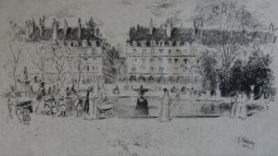 Gustave Leheutre, 'Le petit bassin des Tuileries', 1901
