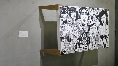 Albert Reyes, 'Face Collage Table', 2019