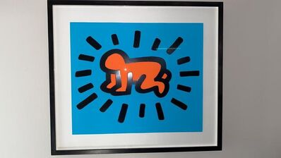Keith Haring, 'Radiant Baby (from Icons Portfolio) RARE PRINTERS PROOF', 1990