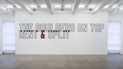 Lawrence Weiner, 'THE BOULDERS ON TOP RENT & SPLIT', 1987