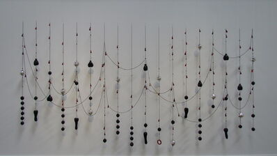 Jean-Michel Othoniel, 'Black hearts, red tears', 2008