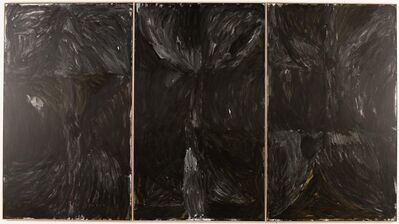 Lottie Consalvo, 'And when it all ends the line snaps and falls into itself and giant black flowers emerge from the great line's absence ... or maybe I just couldn't see it today', 2018