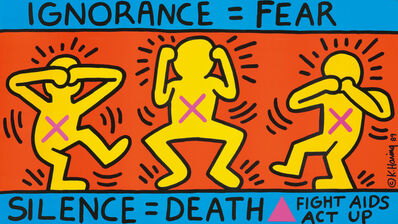Keith Haring, 'Act Up / Ignorance = Fear', 1989