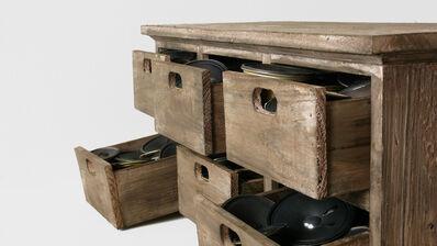 Zimoun, '42 speakers in 6 drawers', 2008