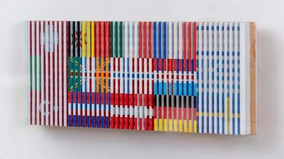 Yaacov Agam, 'Shalom 1976 Acrylic on wood ', 1976