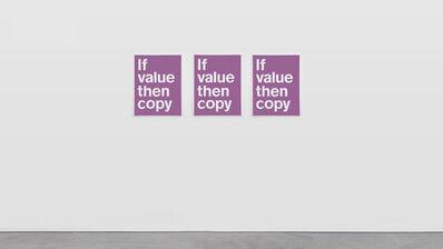 SUPERFLEX, 'If Value Then Copy', 2020