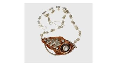 Gretchen Peterson Johnston, 'Sterling and Copper, abstract necklace with labradorite beads', 2020