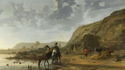 Aelbert Cuyp, 'River Landscape with Riders', 1653 -1657