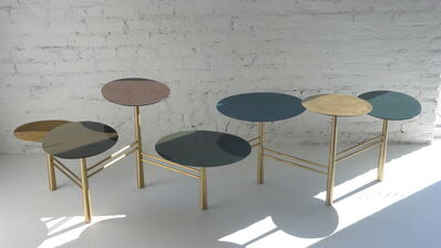 Nada Debs, 'Pebble Table - brass and custom lacquer'