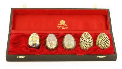 Stuart Devlin, 'Five silver gilt eggs', two 1983, two 1984, 1985