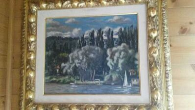 Giorgio de Chirico, 'Paysage de la Seine  (View of St-Cloud)', 1933
