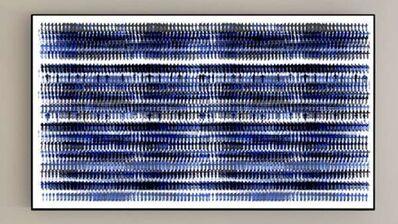 Michal Rovner, 'Cipher Mechanism (Blue Ink)', 2018