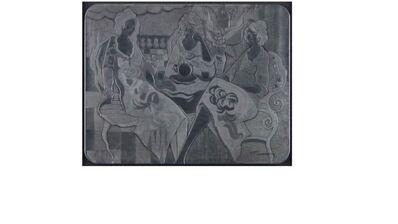 Itzchak Tarkay, 'Three Ladies at Tea', 2001