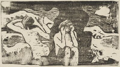Paul Gauguin, 'At the Black Rocks (Aux roches noires)', in or after 1895