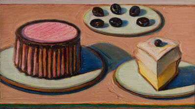 Wayne Thiebaud, 'For Nan (Cake, Pie Slice, and Olives)', 1997/2001
