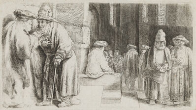 Rembrandt van Rijn, 'Jews in the Synagogue', 1648