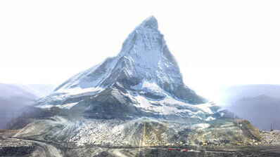 Jonas N.T. Becker, 'Holographic Mountain (still from video)', 2017