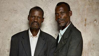 Pieter Hugo, 'François Sinzikiramuka perpetrator (left); Christophe Karoreri, survivor From the Series Portraits of Reconciliation, a project of Creative Court', 2014