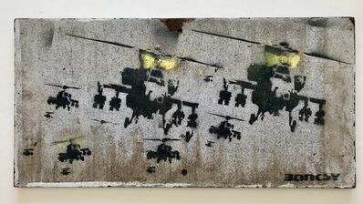 """Banksy, '""""Happy Choppers"""" aka """"Have a nice day""""', ca. 2003"""