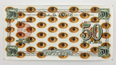 Shuzo Azuchi Gulliver, 'S.A.G. Bank Note / Fifty Eyes', 1997