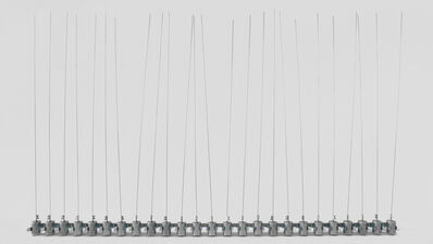 Zimoun, '25 prepared dc-motors, filler wire 1.0mm', 2010