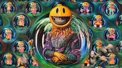 Ron English, 'Melting Mona in Grin Bubbles', 2018