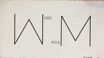 Almandrade, 'Word Room', 1976