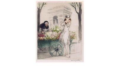 Louis Icart, 'Flower Seller', 1928