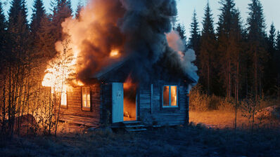 Ragnar Kjartansson, 'Scenes from Western Culture, Burning House', 2015