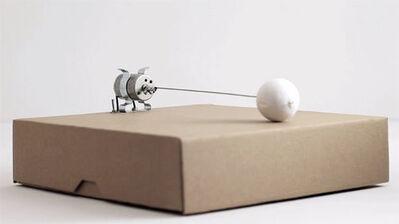 Zimoun, '1 prepared dc motor cotton ball, cardboard box 23x23x6cm', 2012