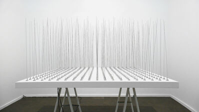Zimoun, '361 prepared DC motors, filler wire 1.0 mm', 2010