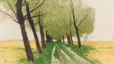 Ferdinand Brunner, 'Alley on the field's edge', ca. 1920