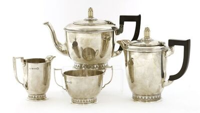 Wakely & Wheeler, 'A George V matching silver tea set', 1934-5