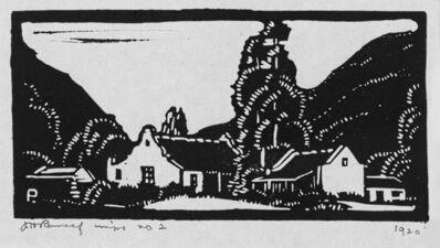 Jacob Hendrik Pierneef, 'Plaasgeboue (Farm Buildings) (Nilant 44)', 1920