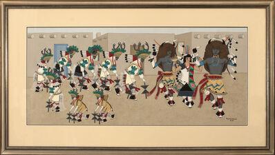 Pablita Velarde, 'Buffalo and Deer Dance'