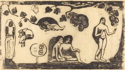 Paul Gauguin, 'Women, Animals and Foliage (Femmes, animaux et feuillages)', in or after 1895