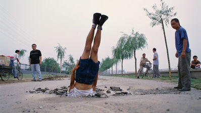 Li Wei 李日韦, 'Li Wei Falls to the Earth', 2002