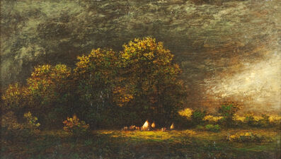 Ralph Albert Blakelock, 'Indian Encampment in a Stormy Landscape', Late 19th century