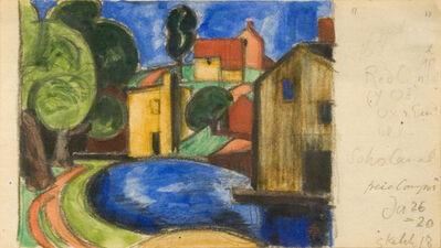 Oscar Bluemner, 'Soho Canal', 1920