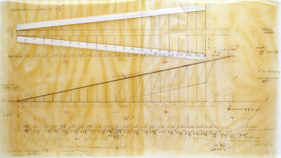 Cris Gianakos, 'Master Drawing for Ramp Installation/U MASS, Amherst, 6.11.1989', 1989