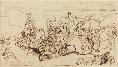 Sir David Wilkie, 'A Stage Coach Robbery', ca. 1820