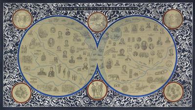 Adriana Bustos, ' Imago Mundi V. Goldsilver Map', 2014