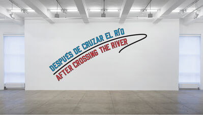 Lawrence Weiner, 'AFTER CROSSING THE RIVER', 2011