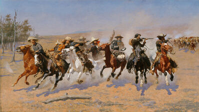 Frederic Remington, 'A Dash for the Timber', 1889