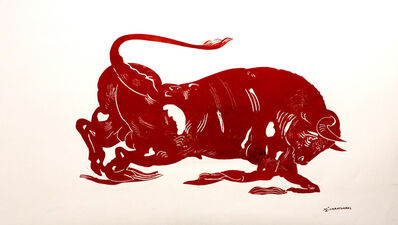 Apostolos Chantzaras, 'El Toro, large red', 2021
