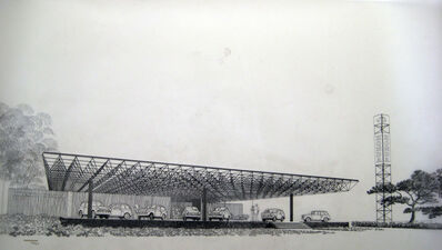 Carlos Diniz, 'Honda Facilities Prototype (Chiat/Day Advertising and Carl Matson Architect)', 1969