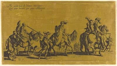 Jacques Callot, 'The Bohemians Marching: The Vanguard', probably 18th century